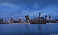 Storm Katie Rolls In Over London (Leigh Cousins RAW) Tags: storm london rain towerbridge reflections river easter evening moody cityscape cloudy citylights bluehour lowtide riverthames gherkin walkietalkie cityoflondon cheesegrater londonskyline stormkatie