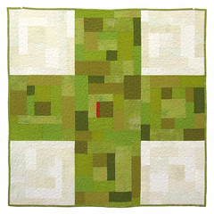 """9 Patch Cross Quilt in Green"" (BooDilly's) Tags: modern quilt quilting quilted textileart modernquilt contemporaryquilt victoriagertenbach crossquilt"