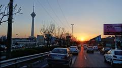 Milad Tower during Sunset (Wei Koh) Tags: travel sunset tower iran tehran milad