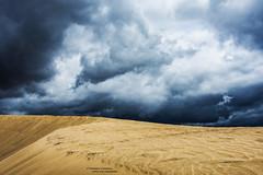 Into The Unknown (Fredrik Lindedal) Tags: sky cloud storm skyline clouds landscape sand nikon alone desert thunder sunstorm d7200