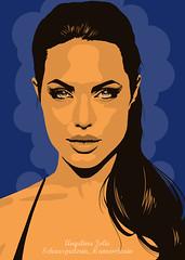 Angelina Jolie. Als Poster erhltlich auf meiner Webseite: goo.gl/jV4sfo (davidnormanart) Tags: portrait illustration poster kunst angelinajolie actor