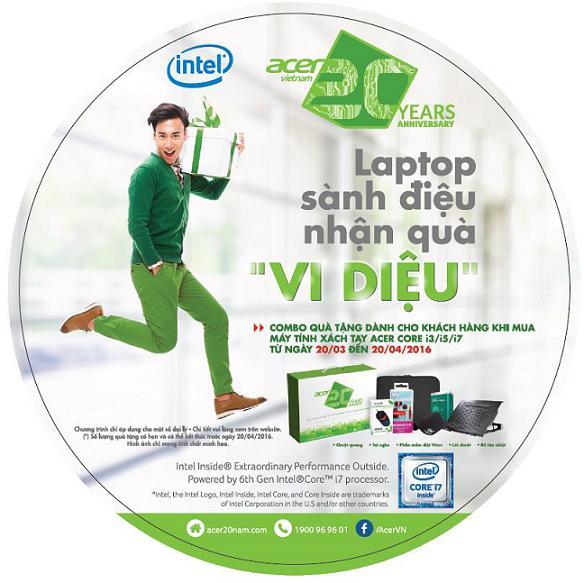 Rinh Laptop sành điệu, nhận quà vi diệu cùng Acer Việt Nam