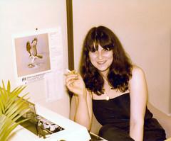Melinda IMS Lycrete Regent Street Piccadilly London Sept 1980 IMG_0015 Smoking by her IBN Typewriter (photographer695) Tags: street london typewriter by piccadilly her smoking melinda 1980 regent sept ims ibn lycrete