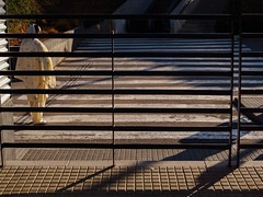 Velos - Veils (icruz.fphotography) Tags: world barcelona road street city blue boy sky people colour walking photography 50mm photo calle foto gente metro earth watching bcn streetphotography ciudad olympus personas caminos stop maze moment abstracto mundo acera streetshot fotografa fotocallejera streetcapture fotografaurbana