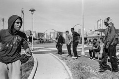 Coney Island, 2016 (jochemj2007) Tags: street nyc blackandwhite film monochrome analog kodaktmax400 leicam2 summilux35f14 xtol400