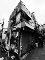 Clear Cut (H.H. Mahal Alysheba) Tags: street building monochrome lumix tokyo wide asakusa lumixg 714mmf40 gx7