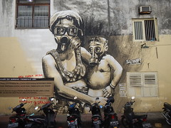 Street Art (GeckoZen) Tags: bali streetart indonesia pollution denpasar fresque