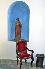 Please, sit down. (vittorio vida) Tags: blue red italy church saint chair seat religion eolie lipari