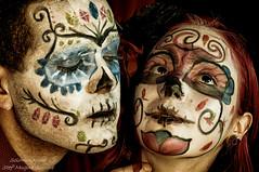Caio e Silvia (SoloImmagine) Tags: face painting mexico skeleton skull paint mexican diadelosmuertos calavera calaca