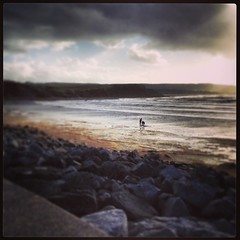 Lahinch at Dusk (rcesnr) Tags: ocean ireland sea wild seascape beach clouds way coast sand rocks clare waves dusk atlantic lahinch countyclare