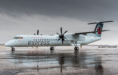 Air Canada Express - Jazz Air Q400 (360 Photography) Tags: new canada wet rain tarmac plane airplane montreal aviation pluie jazz overcast delivery neuf propeller base dorval avion dash8 yul bombardier 429 aircanada 2016 aircanadajazz q400 livraison jazzair pw150 aircanadaexpress mathieupouliot 310316 cgvjz