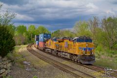 Detour (Russell_Honey) Tags: kansascity unionpacific ge railfan bnsf zarah atsf ac44cw railroadphotography es44ac shawneeks