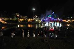 DSC_2250 (rajashekarhk) Tags: nightphotography travel india water reflections temple capital culture chennai tamilnadu religus triplicane templetank hkr parthasarathytemple theppam rajashekar floatfestival