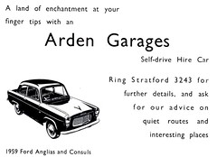 1959 ADVERT - ARDEN GARAGES STRATFORD ON AVON - FORD 100E (Midlands Vehicle Photographer.) Tags: ford advert avon stratford 1959 arden garages on 100e