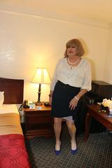 new120443-IMG_2651t (Misscherieamor) Tags: tv transformation feminine cd femme motel tgirl transgender mature sissy tranny transvestite crossdress ts gurl tg travestis travesti travestido travestie m2f pencilskirt xdresser tgurl traviesa travestito travestit sheerblouse showingslip