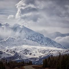 Spring in the Alaska Range  (Explored) (frostnip907) Tags: panorama mountains alaska spring alaskapipeline stitchedpanorama transalaskapipelinesystem canon7d tamron150600mmf563spdivcusd