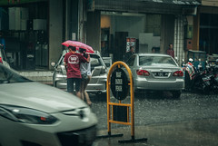 Intimate. (Alleat) Tags: street city blue urban beautiful rain indonesia photography mess flickr moody cityscape artsy abc bandung glance flick braga baru feelings pasar