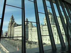 The Three Graces from the Museum of Liverpool (waterboyzoo) Tags: architecture liverpool fieldtrip threegraces pierhead centralsaintmartins museumofliverpool baarchitecturespacesandobjects