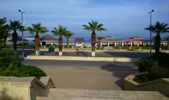 Latakia _Corniche (nesreensahi) Tags: trees sea sky nature landscape syria siria  syrie latakia