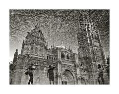 Reflejada (ngel mateo) Tags: blackandwhite blancoynegro cathedral catedral toledo reflejos reflexes castillalamancha catedraldetoledo cathedraloftoledo ngelmartnmateo ngelmateo