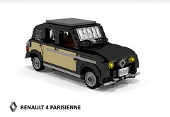 Renault 4 Parisienne (1968) (lego911) Tags: auto paris france classic car cane wagon french model lego render 4 renault hatch 1960s 1968 1970s 1980s 4l economy luxe compact cad hatchback povray 5door moc parisienne ldd miniland 5dr foitsop lego911