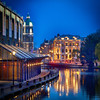 Blue Hour reflections! (janetmeehan) Tags: street city travel holland amsterdam reflections cityscape thenetherlands streetphotography streetscene bluehour amsterdamcanal hollandthenetherlands amsterdambridge