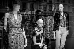 Where's Wilma? (Sbastien Gross) Tags: blackandwhite woman paris reflection mannequin shop 35mm fuji candid streetphotography 2016 x100 project365