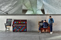 Play It Forward (chooyutshing) Tags: artwork singapore display piano marinabay esplanadebridge playitforward