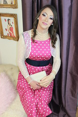 IMG_7557 (rebecca47x) Tags: pink cindy dress polka dot tgirl transgender transvestite makeover trans crossdresser conti boyswillbegirls