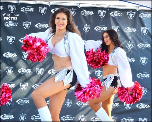 2015 Oakland Raiderettes Sarah & Abby @ Raiderville