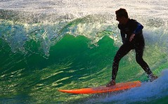 Surfing on the green wave - Tel-Aviv beach (Lior. L) Tags: light sea sport wow surf action surfer wave