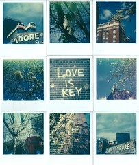 A postcard of bricks and blossoms (marion (milky soldier)) Tags: city flowers blue england sky streetart london love collage analog polaroid sx70 spring holidays mosaic blossoms ishootfilm instant walls analogue instantfilm urbanpoetry polaroidweek roidweek theimpossibleproject impossiblefilm roidweek2016