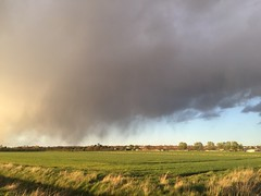 Small storm passing (andystones64) Tags: sky storm motion nature field weather clouds timelapse movement lincolnshire scunthorpe precipitation iphone nlincs iphoneography iphone6 cloudsstormssunsetssunrises