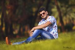 P O R T R A I T - Shahin (sa hadi) Tags: life light sunset shadow red sun man tree yellow canon outdoor background explore serene sa depth bangladesh hadi ef70200mm