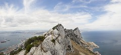 The Rock of Gibraltar (BMcIvr) Tags: ocean sea panorama rock clouds photography spain mediterranean view ben top united peak kingdom espana peninsula gibraltar daredevil pinnacle overseas territory iberian mciver alboran benmciver