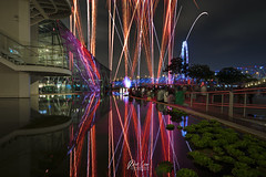 _DSC881901-wm (patlawhl) Tags: reflections landscape downtown fireworks event nightscene urbancityscape marinabaysands patlaw artsciencemuseum