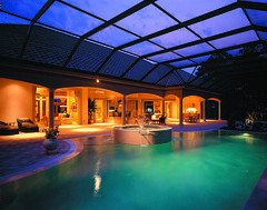 Cardiff Home Plan by The Sater Design Collection (Sater Design Collection) Tags: pool verandah poolcage