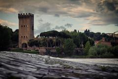 Pescaia alla Torre San Niccol (Paolo Appendino) Tags: italy water river florence san torre cloudy tuscany arno lungarno pescaia niccol