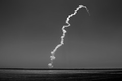 PSLV-C33 / IRNSS-1G Launch trail (1/4th) Tags: bw india monochrome nikon satellite smoke minimal liftoff d750 rocket launch minimalism nikkor minimalist sdsc andhrapradesh isro smoketrail sriharikota pslv pulicatlake  2470mmf28g indianspaceresearchorganisation sriharikotahighaltituderange irnssconstellation pslvc33 irnss1g pslvc33irnss1glaunchtrail isroindianspaceresearchorganisation satishdhawanspacecentreshar sdscshar