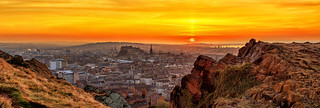 Panoramic View of The City of Edinburgh (Thanks for all the Likes & Comments)