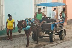 Horse transport @ Trinidad (Cuba) (PaulHoo) Tags: street city people urban horse color wagon nikon candid transport cuba citylife streetphotography streetlife streetscene trinidad lightroom streetcandid d700