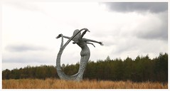 Arria. (Paris-Roubaix) Tags: sculpture andy public cemetery statue scott scotland poetry motorway jim cumbernauld sculptor m80 artworks kilsyth carruth eastfield arria