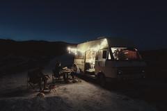 Untitled (Burin Esin) Tags: travel camping sunset camp night turkey stars lights fairy caravan van rv izmir koy esin alaat eme burin delikli
