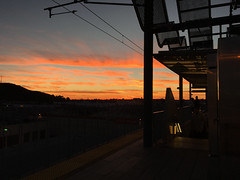 Orange_2016 (Omar Omar) Tags: california sunset usa atardecer la losangeles twilight publictransit expo metro dusk puestadesol masstransit lightrail crepusculo losangelesmetro californie usofa losangelesca expoline losngeles losngelescalifornia