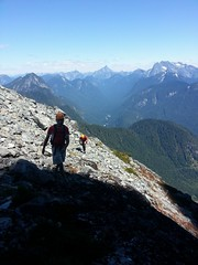 Doug and Al topping out on the White Dyke of Edge Peak (Dru!) Tags: goldenears edgepeak judgehoway robiereid whitedyke