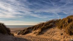 Dunes, Beach and Sea (BraCom (Bram)) Tags: sea holland beach netherlands strand canon sand widescreen dunes nederland noordzee halo zeeland zee northsea nl 169 duinen zand burghhaamstede helmgras canonef24105mm sluierbewolking bracom canoneos5dmkiii