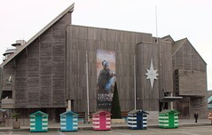 The Vikings at the National Maritime Museum December 2015 (Bristol Viewfinder) Tags: santa xmas beach boats bay cornwall sailing skiing jet huts galleries rudolph sleigh falmouth nationalmaritimemuseum lyme hms mounts nmm theshed