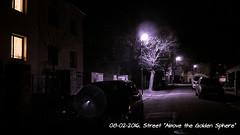 "Street ""Above the Golden Sphere"" (ntemptm) Tags: street trees dark lights evening streetphotography nopeople infrared czechrepublic late lamps tranquil olomouc infraredphoto"