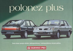 Poland and Korea (Hugo90-) Tags: auto car ads advertising automobile poland daewoo fso polonez polmot