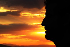 Perfil (GeorgiaStereo) Tags: mxico canon atardecer persona perfil sombra cielo nubes silueta hombre